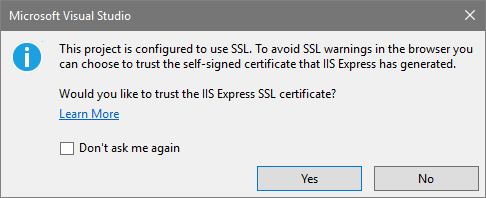 Pete Davis - IIS Express HTTPS Trusted Connection to